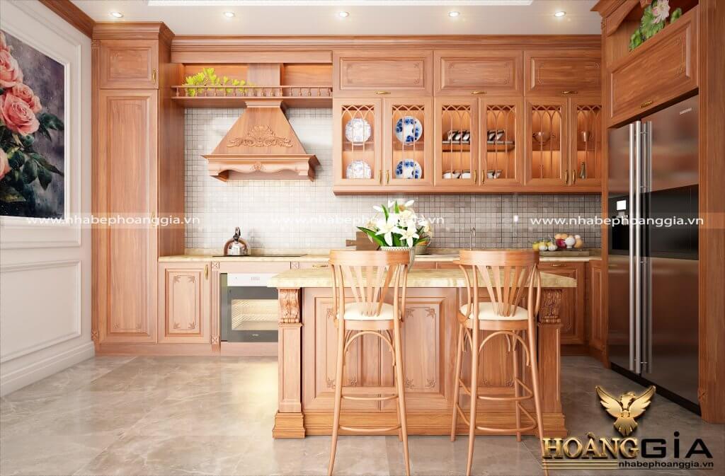 thiết kế thi công nội thất tủ bếp gỗ cao cấp