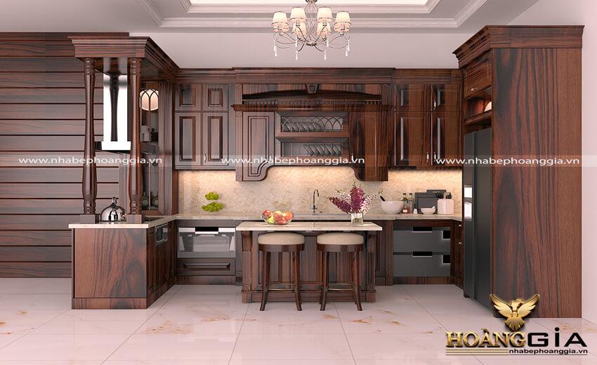 tủ bếp gỗ cẩm