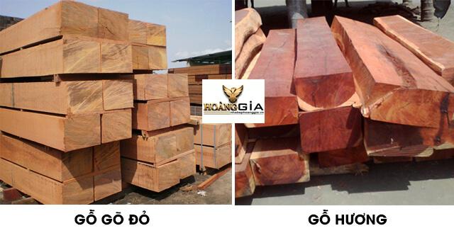 gỗ gõ đỏ và gỗ hương loại nào tốt hơn