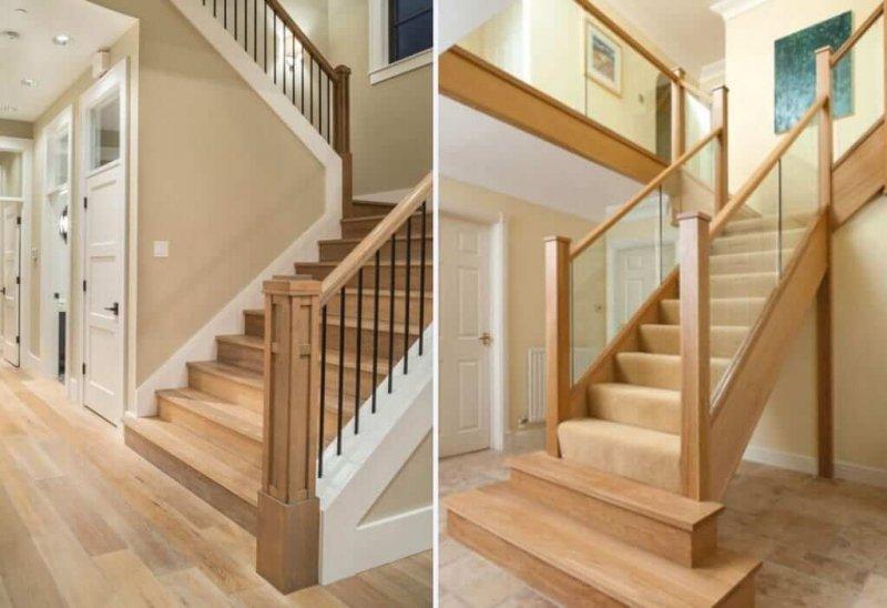 trụ cầu thang gỗ vuông đẹp