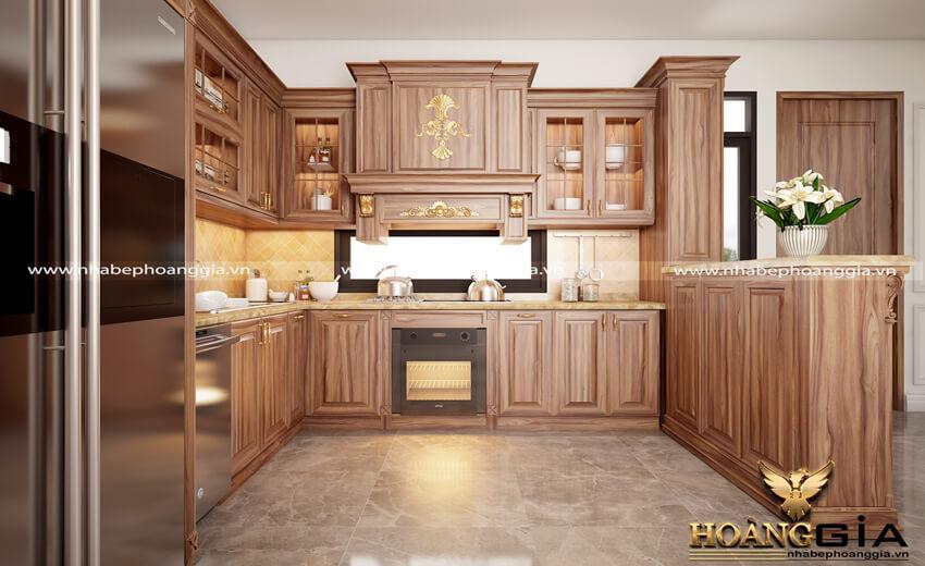 Báo giá tủ bếp gỗ tự nhiên