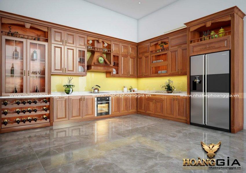 Nên làm tủ bếp gỗ tự nhiên hay gỗ công nghiệp