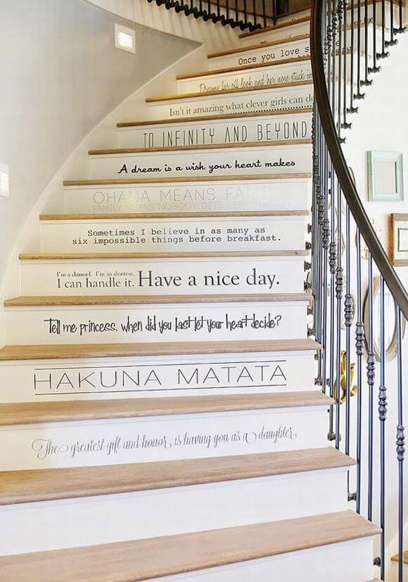 ý tưởng trang trí cầu thang