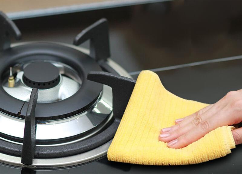 Làm sạch bếp ga
