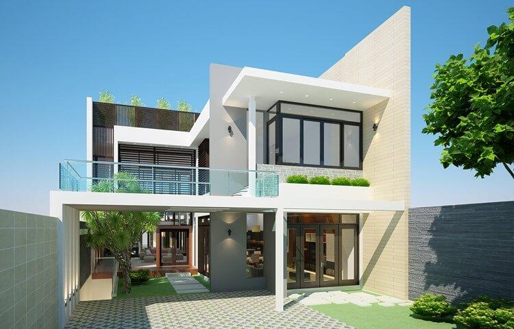 mẫu nhà phố 2 tầng đẹp nhất