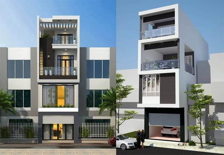 mẫu nhà phố 4 tầng đẹp nhất