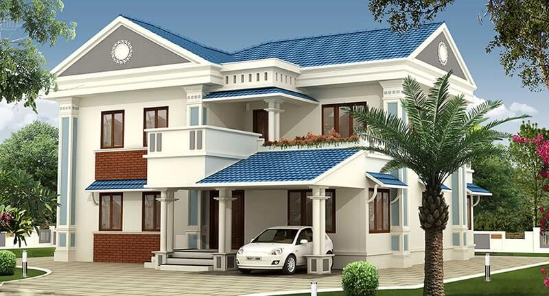 thiết kế biệt thự nhà vườn 2 tầng