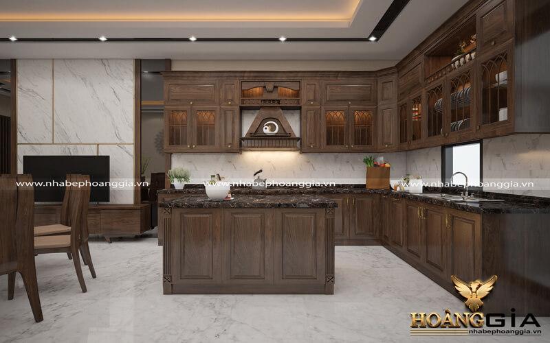 đóng tủ bếp hiện đại bằng gỗ nào