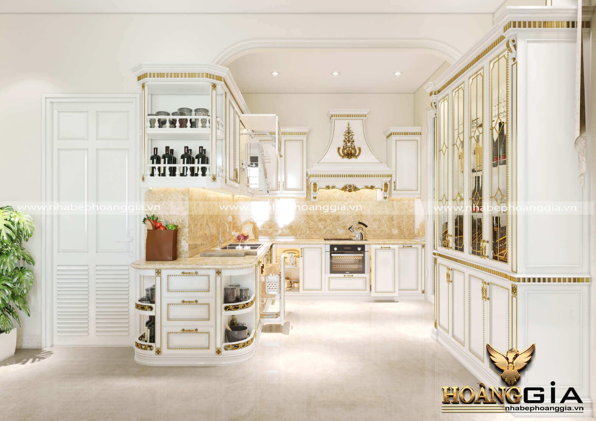 mẫu tủ bếp biệt thự