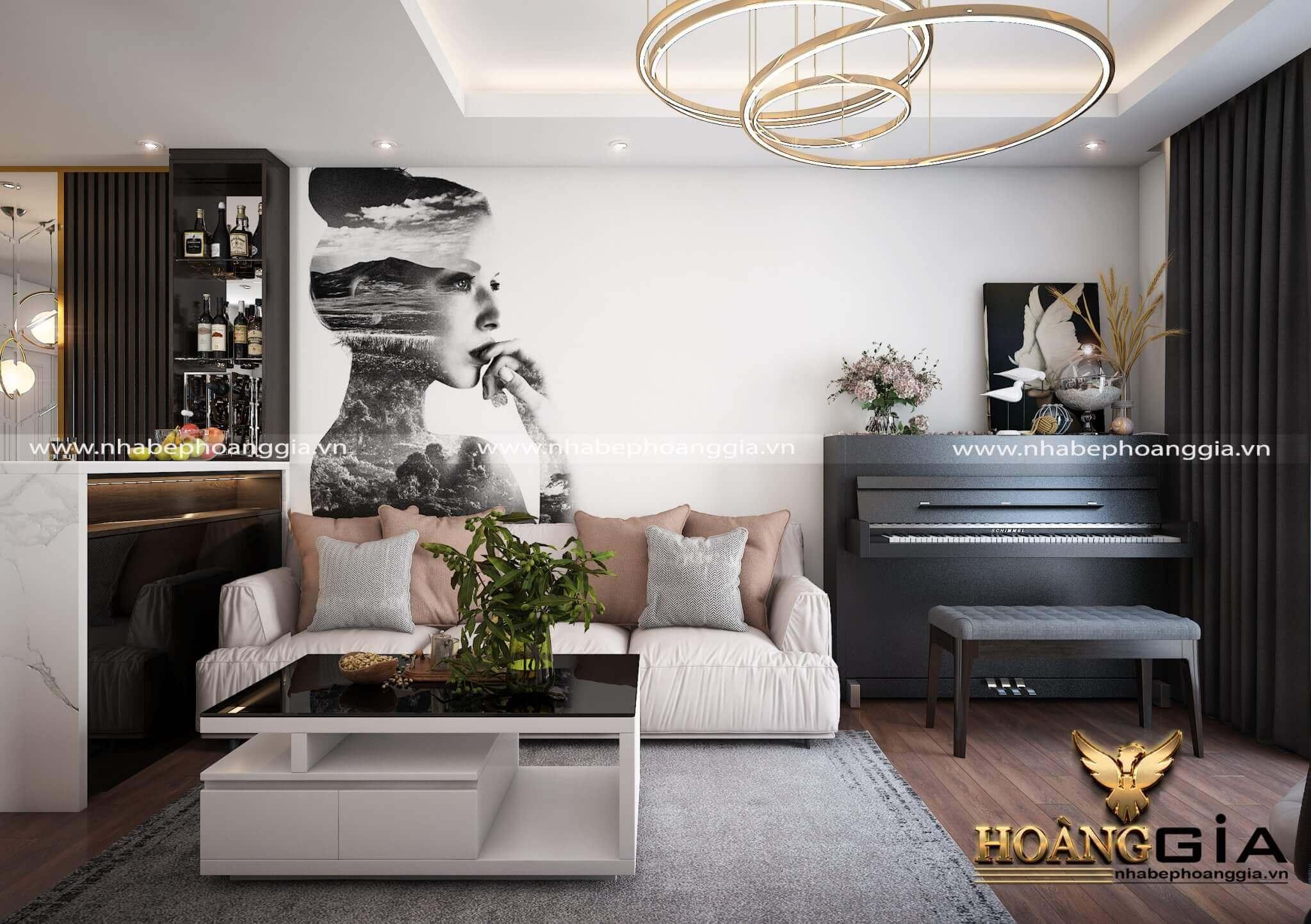 mẫu phòng khách chung cư 2019