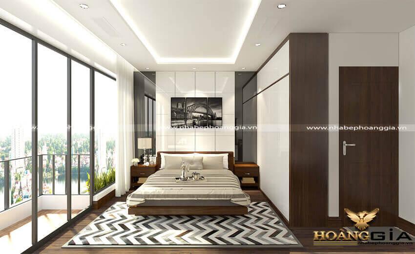 mẫu phòng ngủ chung cư đẹp 2019
