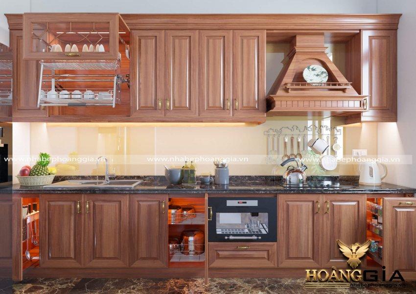 tủ bếp gỗ tự nhiên loại nào tốt nhất