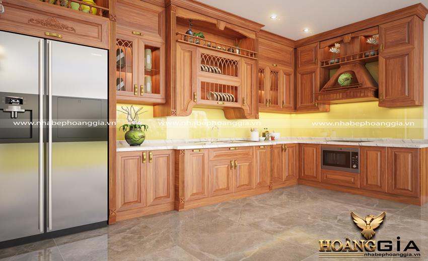 tủ bếp gỗ xoan đào có tốt không