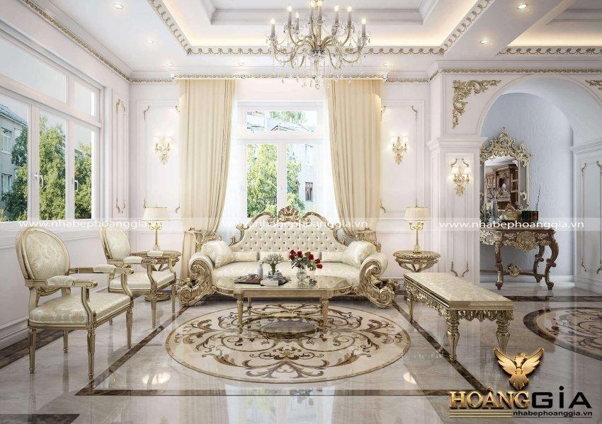 mẫu phòng khách đẹp cổ điển