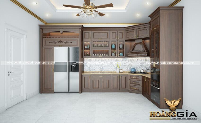 phòng bếp đẹp hiện đại nhà ống