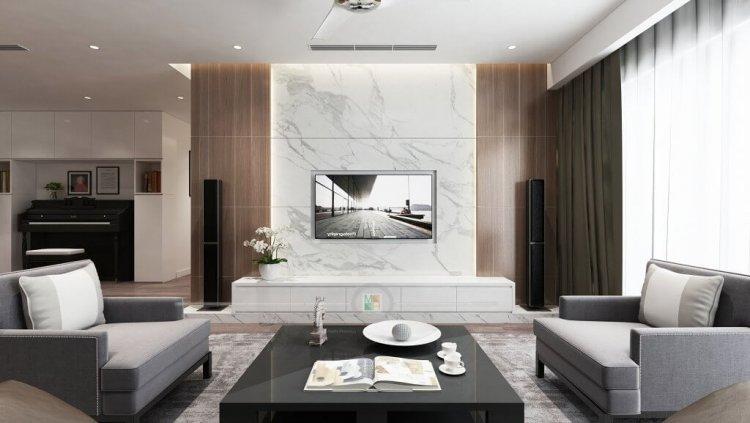 Vật liệu ốp tường phòng khách