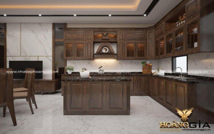 So sánh tủ bếp gỗ óc chó và tủ bếp gỗ gõ đỏ