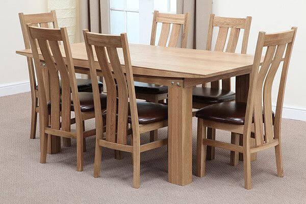 Bộ bàn ăn 6 ghế gỗ sồi