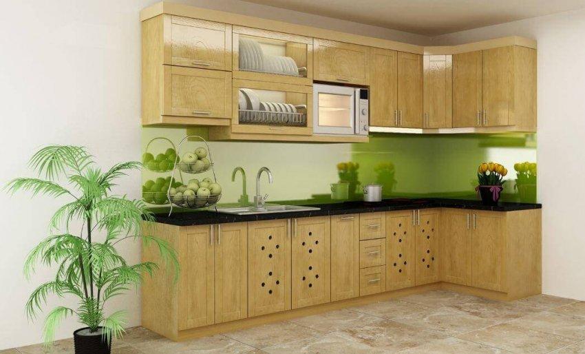 Làm tủ bếp gỗ sồi nga hay tủ bếp gỗ sồi mỹ
