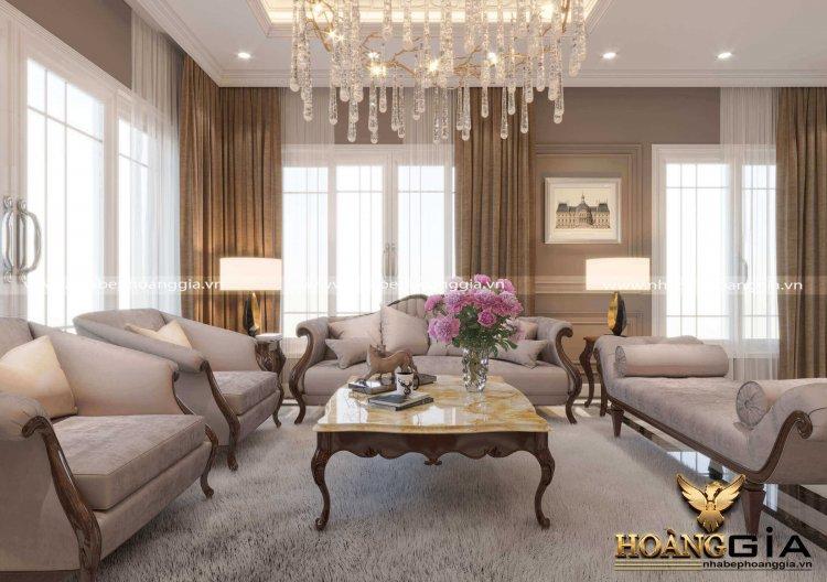 mẫu phòng khách tân cổ điển đẹp nhất 2021