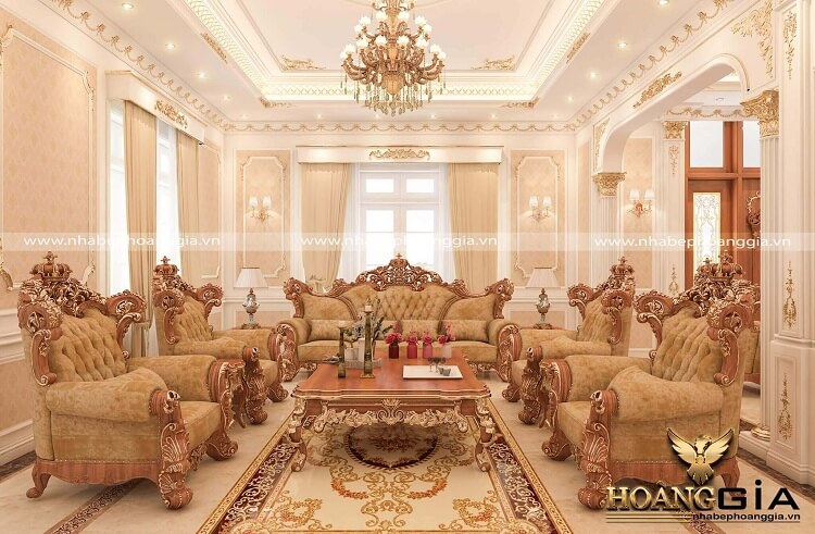 mẫu bàn ghế phòng khách tân cổ điển đẹp nhất 2020