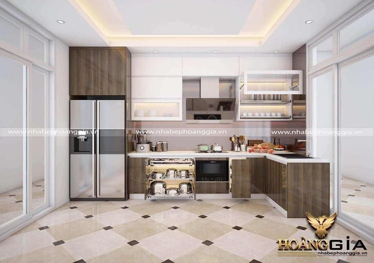 thiết kế thi công tủ bếp tại Hòa Bình