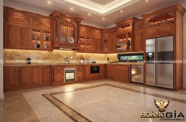 thiết kế tủ bếp tân cổ điển