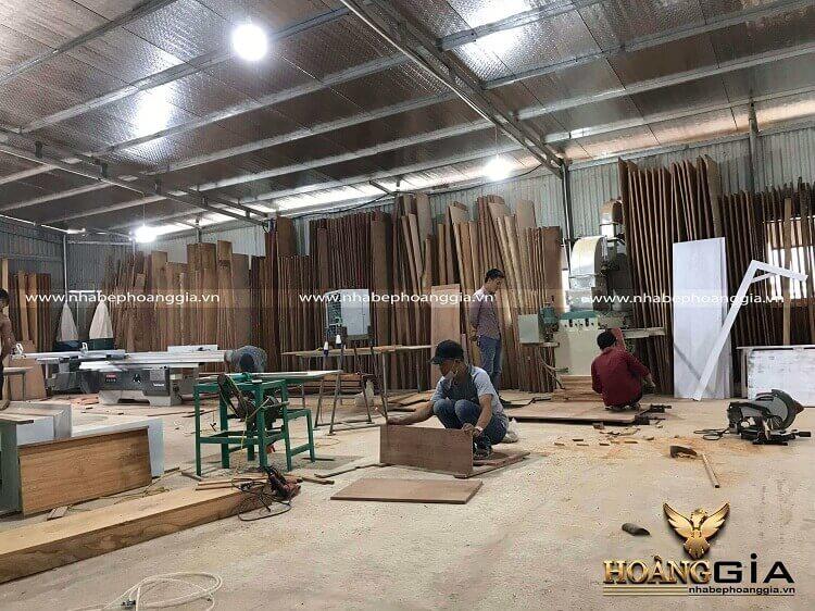 thi công tủ bếp gỗ công nghiệp