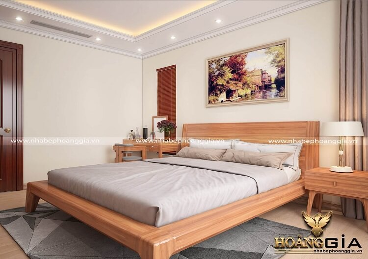 giường ngủ gỗ tự nhiên đẹp