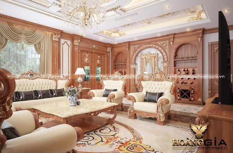 trang trí phòng khách tân cổ điển