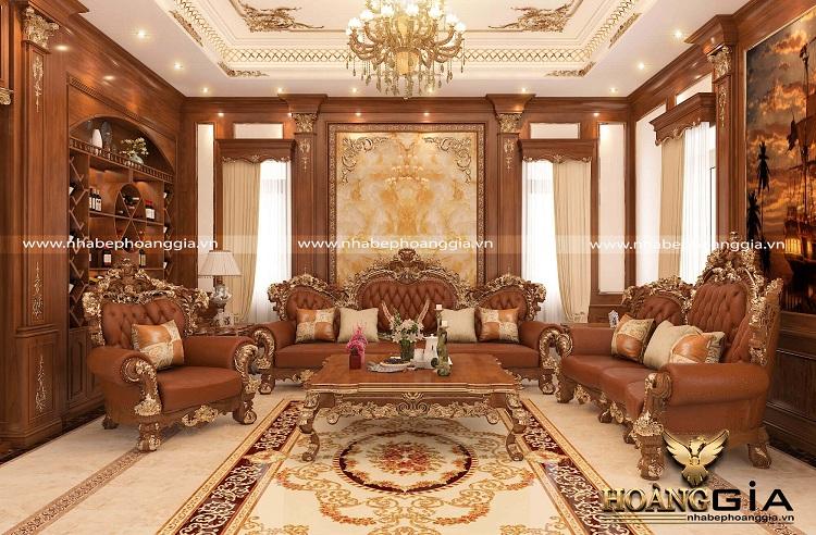 bố trí nội thất phòng khách tân cổ điển