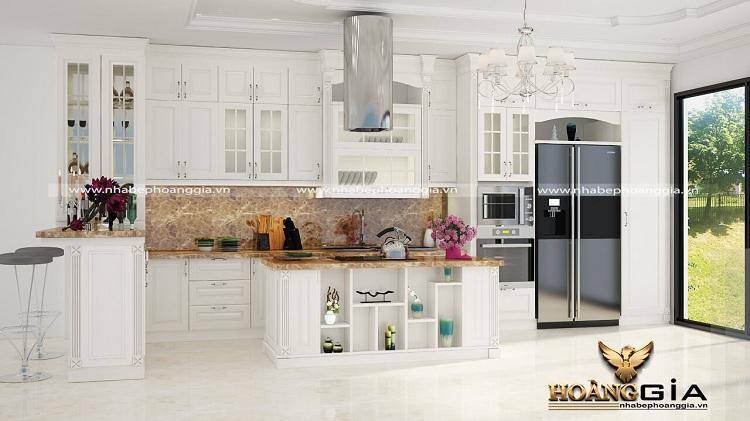 thiết kế tủ bếp kịch trần