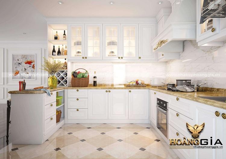tủ bếp góc đẹp 2020