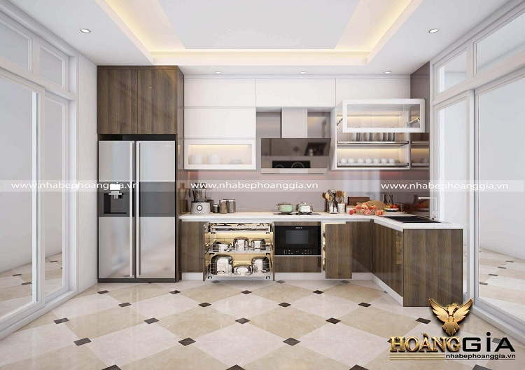 tủ bếp góc đẹp 2021