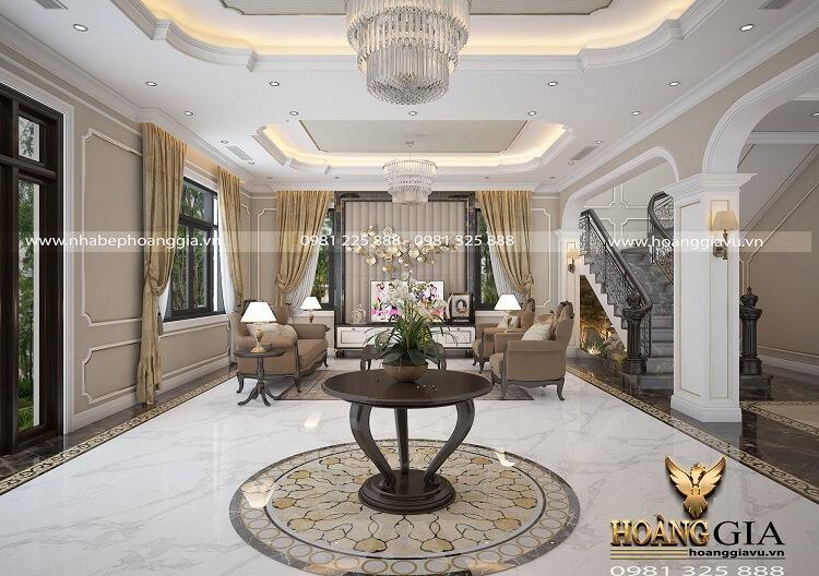 Mẫu thiết kế nội thất tân cổ điển nhà biệt thự