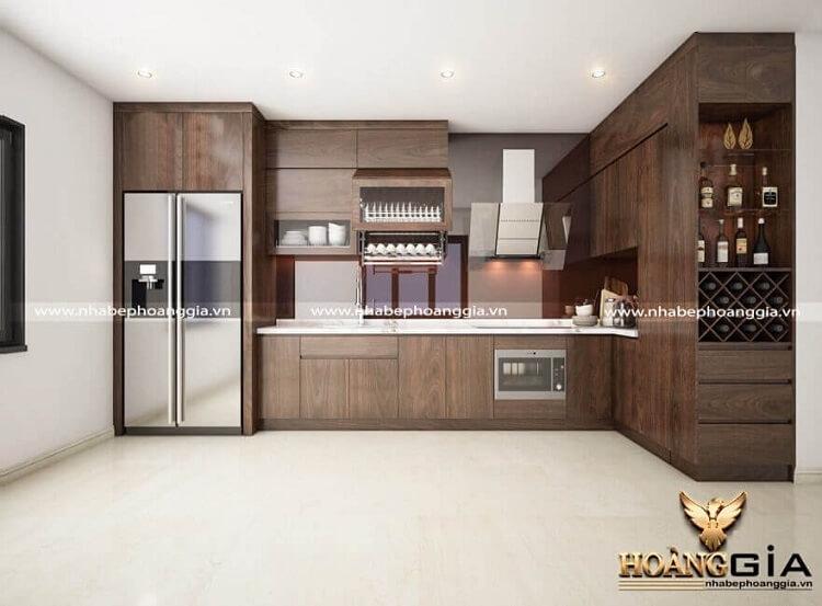 thiết kế tủ bếp đơn giản
