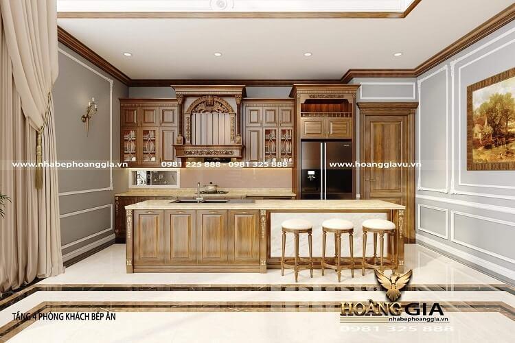 thiết kế tủ bếp đẹp cho căn hộ penthouse
