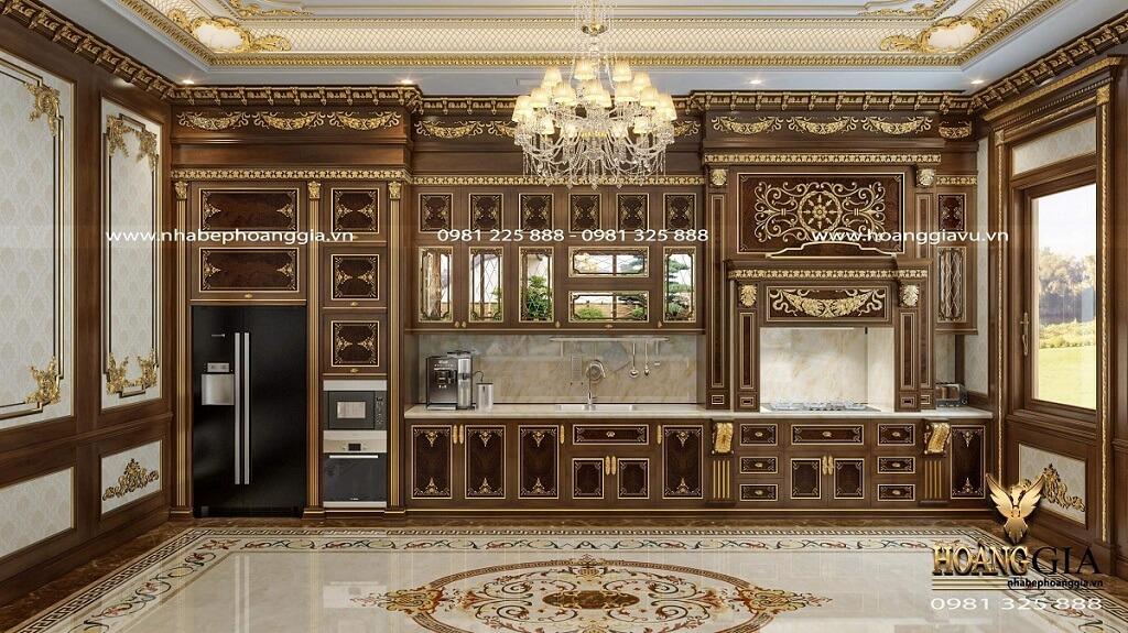 thiết kế phòng bếp ăn cổ điển