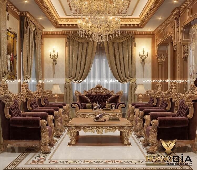 kích thước sofa tân cổ điển