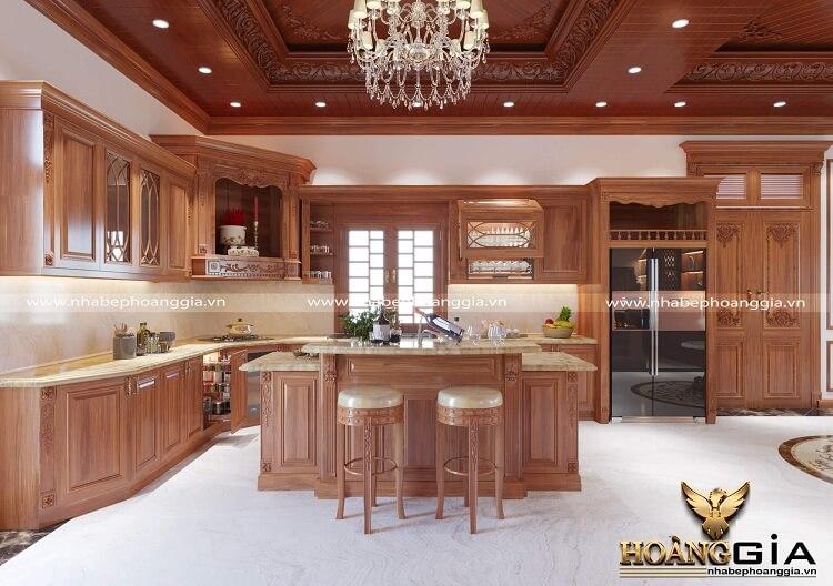 làm tủ bếp gỗ gõ đỏ hết bao nhiêu tiền