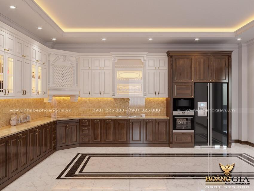 tủ bếp tân cổ điển đẹp
