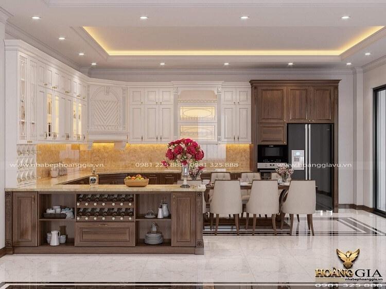 thiết kế thi công tủ bếp tân cổ điển