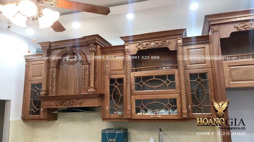 thi công tủ bếp tân cổ điển