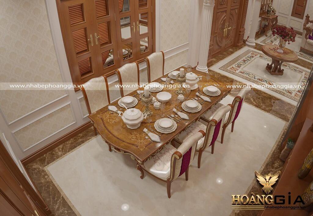 mẫu thiết kế nội thất tân cổ điển biệt thự 03 tầng
