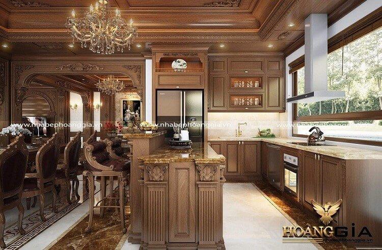 mẫu tủ bếp có bàn đảo đẹp