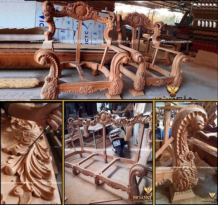nội thất tân cổ điển nên dùng gỗ gì