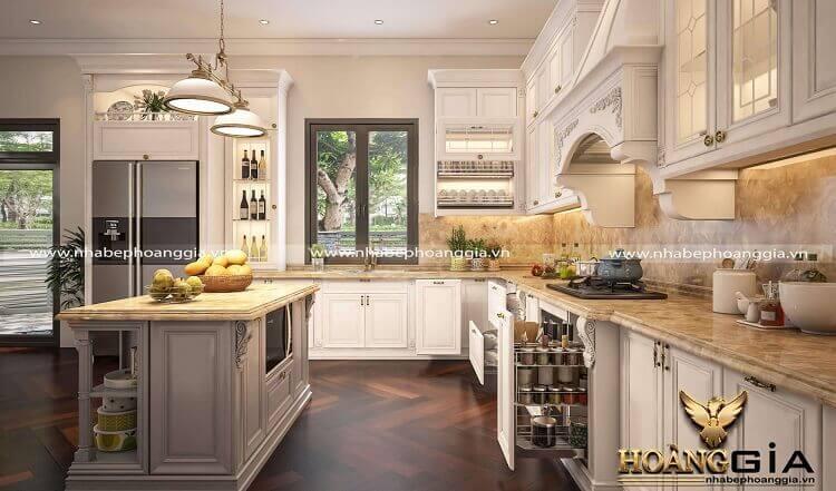 mẫu tủ bếp thông minh