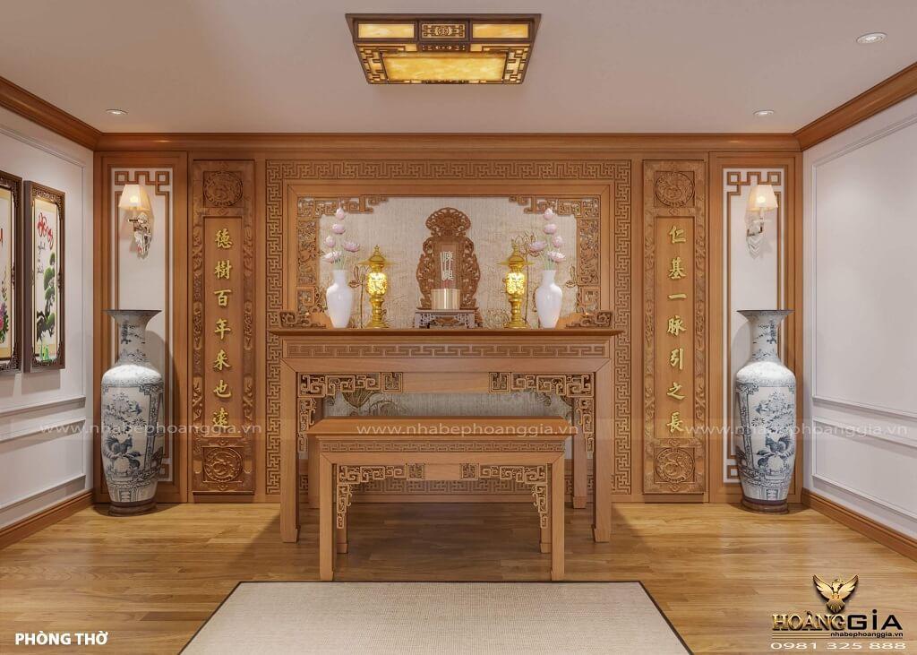 thiết kế phòng thờ tân cổ điển