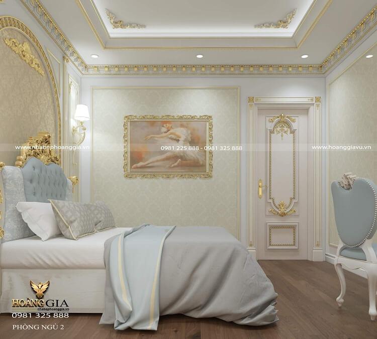 thiết kế phòng ngủ tân cổ điển nhỏ