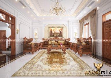 Thiêt kế nội thất tân cổ điển – Biệt thự chị Thảo